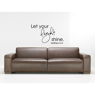 Phrase Let Your Light Shine Wall Art Sticker Decal