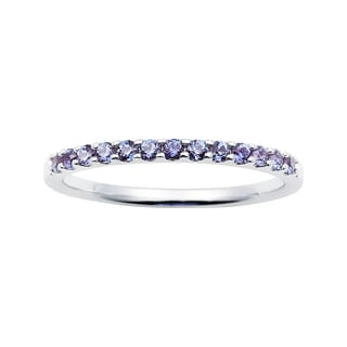 Boston Bay Diamonds 14k White Gold Created Alexandrite Stackable Band Ring