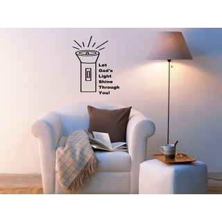 Lamp Let Your Light Shine Wall Art Sticker Decal