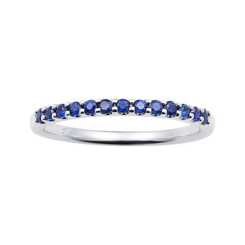 14karat White Gold Sapphire Stackable Band Ring