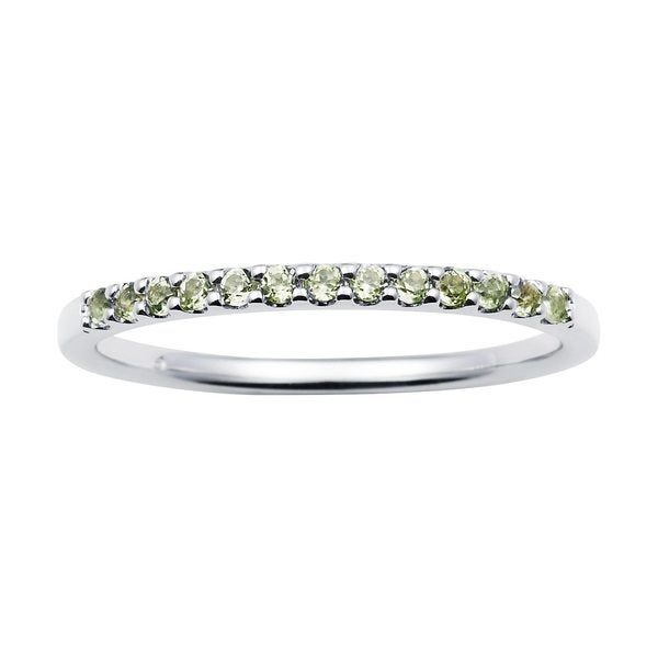bb9495e6a707c Shop 14karat White Gold Peridot August Birthstone Stackable Band ...