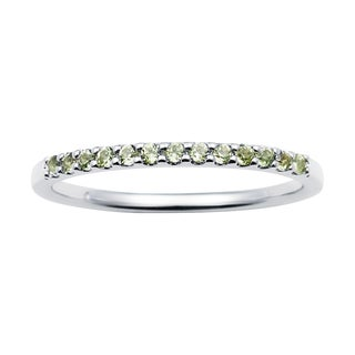 Boston Bay Diamonds 14k White Gold Peridot Stackable Band Ring