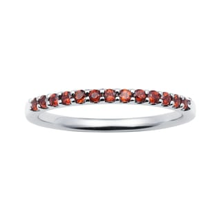 Boston Bay Diamonds 14k White Gold Garnet Stackable Band Ring