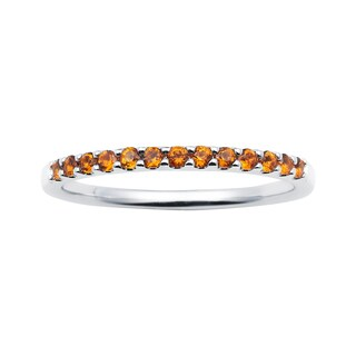 Boston Bay Diamonds 14k White Gold Citrine Stackable Band Ring