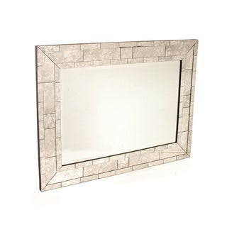 Hip Vintage Antique 'Brick' Mirror