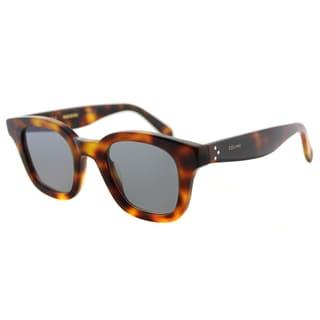 Celine CL 41376 Sacha 05L Havana Plastic Square Sunglasses Blue Lens