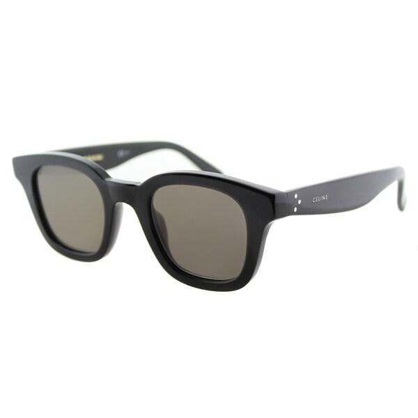 44e03319597a Shop Celine CL 41376 Sacha 807 Black Plastic Square Sunglasses Grey ...
