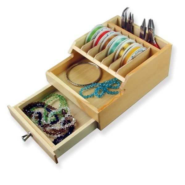 Ikee Design Wooden Organizer with Drawer