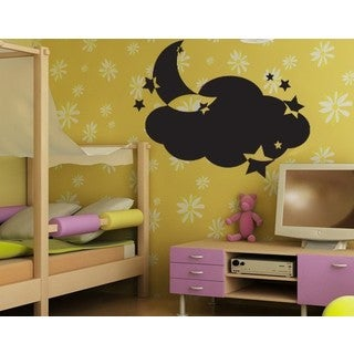 Moon and Stars Chalkboard and Eraseboard Wall Decal