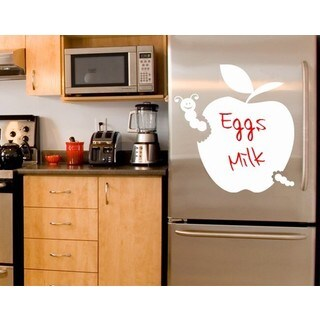 Apple Chalkboard and Eraseboard Wall Decal