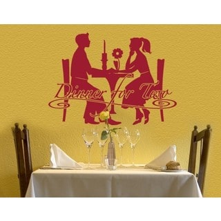 Dinner For Two Wall Decal