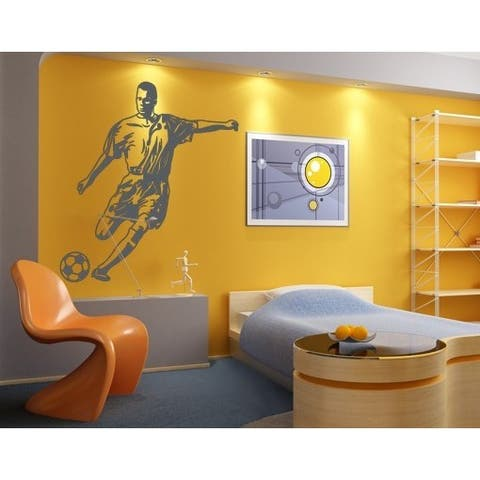 Soccer Striker Wall Decal