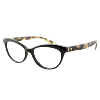 Kate Spade KS Steffi 807 Black Camel Plastic Cat-Eye Eyeglasses 52mm