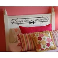 Always Kiss Me Goodnight' Sticker Wall Decal