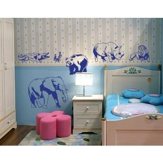 Zoo Animal Set Wall Decal