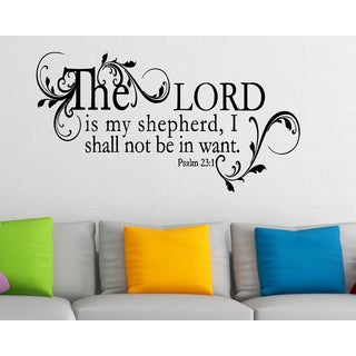 Beautifully framed quote The Lord is My Shepherd - Psalm 23 Wall Art Sticker Decal