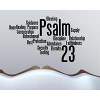 Collage The Lord is My Shepherd - Psalm 23 Wall Art Sticker Decal