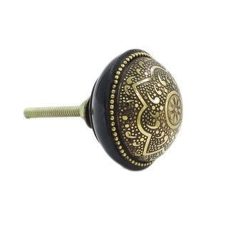 Filligree Metal Flower Knob Pull (Pack of 6)