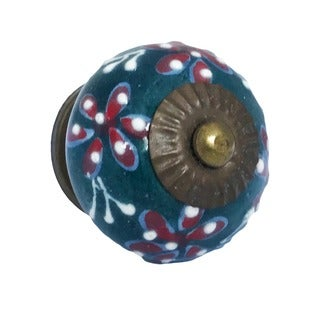 Flower Leaf Knob Pull for Drawers/ Cabinets and Doors (Pack of 6)