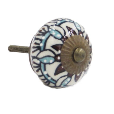 Edelweiss Flower Knob Pull for Drawers/ Cabinets and Doors (Pack of 6)