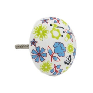Yellow Lily Colorful Knob Pull for Drawers/ Cabinets and Doors (Pack of 6)