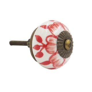 Red Buttercup Knob Pull for Drawers/ Cabinets and Doors (Pack of 6)