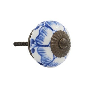 Blue Buttercup Knob Pull for Drawers/ Cabinets and Doors (Pack of 6)