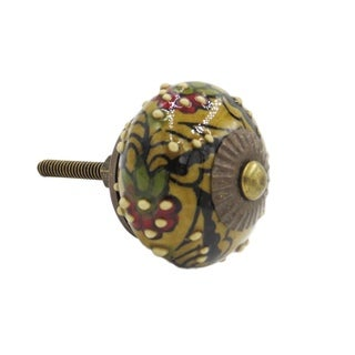 Dahlia Flower Knob Pull for Drawers/ Cabinets and Doors (Pack of 6)