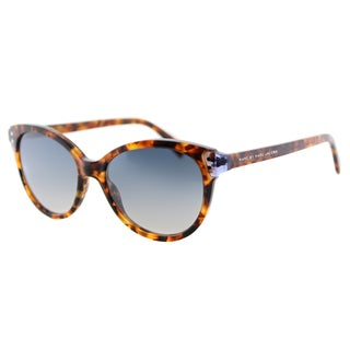 Marc by Marc Jacobs MMJ 461 A9J Havana Blue Plastic Cat-Eye Sunglasses Grey Graident Lens