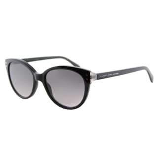 Marc by Marc Jacobs MMJ 461 A9I Black Milk Plastic Cat-Eye Sunglasses Blue Mirror Lens