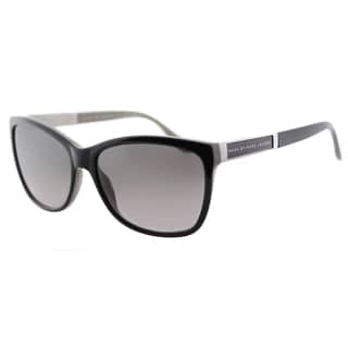 Marc by Marc Jacobs MMJ 465 A64 Black on Grey Plastic Cat-Eye Sunglasses Grey Graident Lens