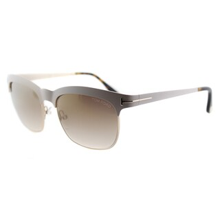 Tom Ford Elana TF 437 25F Ivory And Gold Square Metal Sunglasses