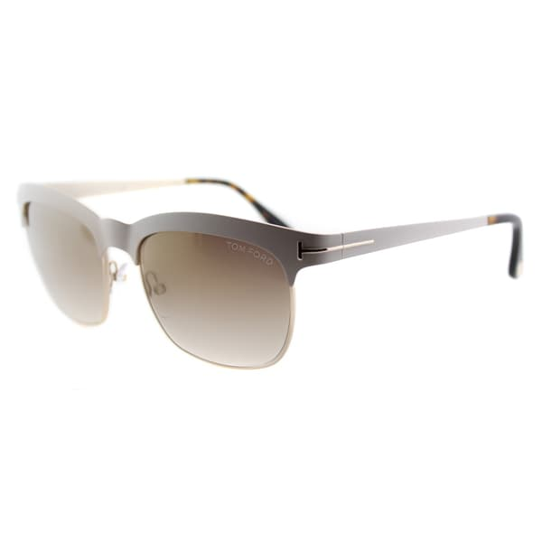 3b9ac37c438 Tom Ford Elana TF 437 25F Ivory And Gold Square Metal Sunglasses