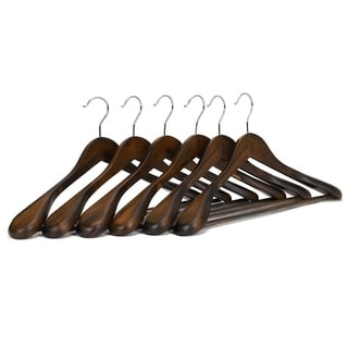 Extra Wide Wooden Hangers Retro Finish (Pack of 5)