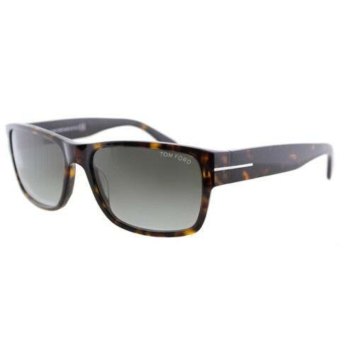 Tom Ford Mason TF 445 52B Dark Havana Rectangle Plasic Sunglasses