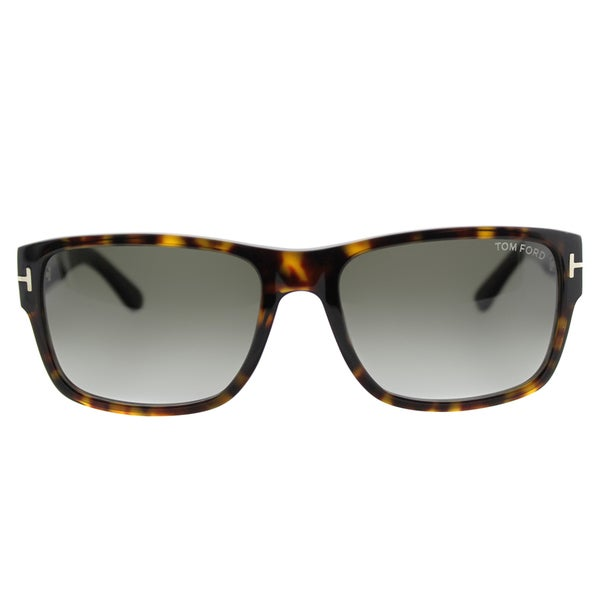 Tom Ford Mason TF 445 52B Dark Havana Sunglasses Grey Gradient Lens Size 58