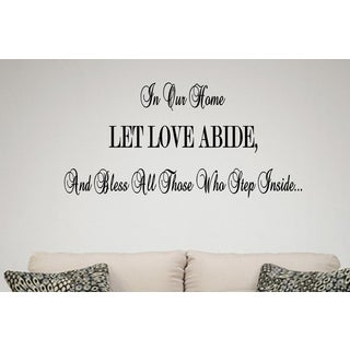 Expression Let Love Abide Wall Art Sticker Decal