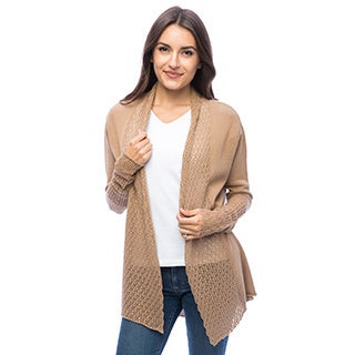 Dolores Piscotta Women's Cotton Open Cardigan