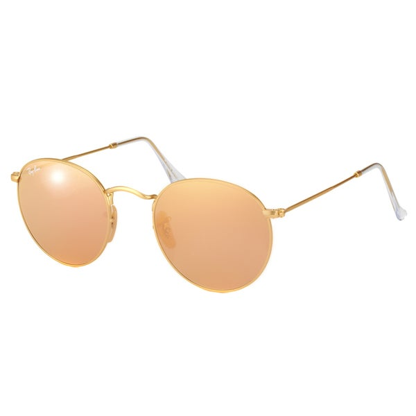 e41089a0dd64e Ray-Ban Round Metal RB 3447 112 Z2 Matte Gold Round Metal Sunglasses -
