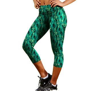 Champion Women's Absolute Printed Capris With SmoothTec Band