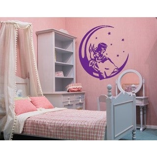 Angel On The Moon Wall Decal
