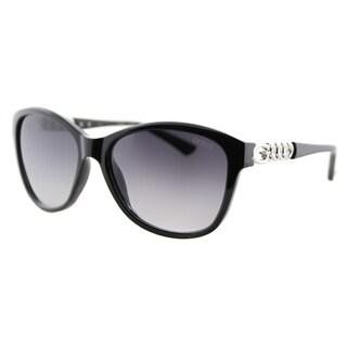 Guess GU 7451 01B Shiny Black Plastic Fashion Sunglasses Grey Gradient Lens
