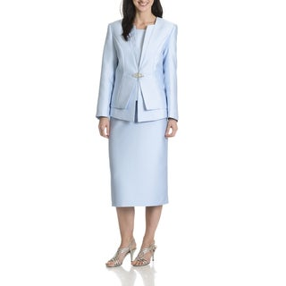 Giovanna Collection Women's Layered 3-Piece Skirt Suit