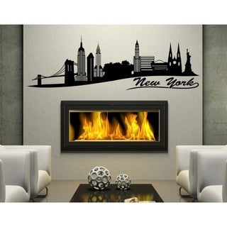 New York City Skyline Cityscape Wall Decal