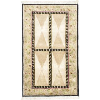 Ecarpetgallery Hand-knotted Opulence Beige Wool Rug (3' x 5')
