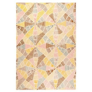 M.A.Trading Hand-Tufted Indo Labyrinth Multi Rug (5'2 x 7'6)