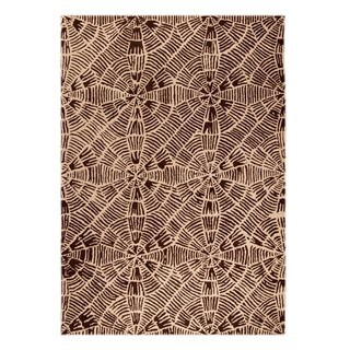 M.A.Trading Hand-Tufted Indo Labyrinth Beige/ Brown Rug (5'2 x 7'6)