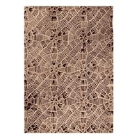 Handmade M.A.Trading Indo Labyrinth Beige/ Brown Rug (5'2 x 7'6) (India)