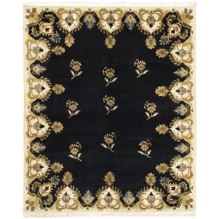 Ecarpetgallery Hand-knotted Aurora Blue Wool Rug (8' x 9'5)