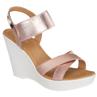 Criss Cross Wedge Sandals